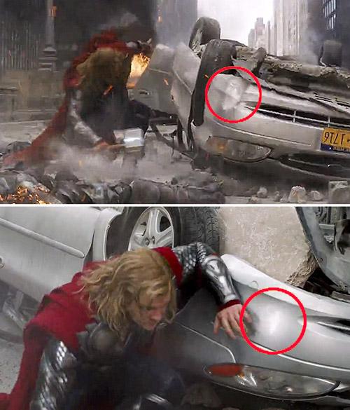 Ошибки с Мстителями.