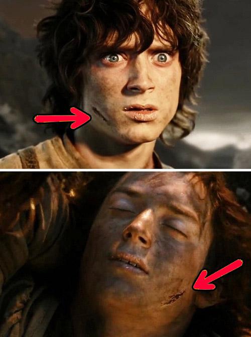 Ошибки со шрамом Фродо.