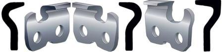 Классификация цепей относительно профиля режущего звена.