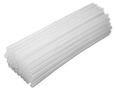Универсальные, белые, прозрачные клеевые стержни.