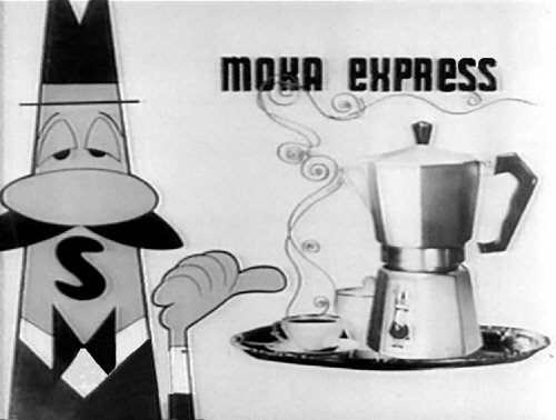 Старая реклама кофеварки Bialetti.