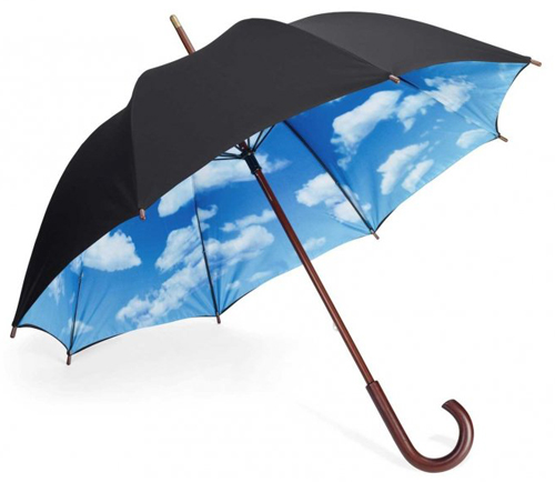 Приятно в дождь иметь кучочек безоблачного неба.