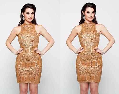 А можно одеть для новогодней ночи и мерцающее коктейльное платье с прямой юбкой дизайна Milano Formals.