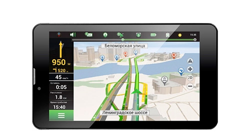Автомобильный GPS-ГЛОНАСС навигатор Navitel A737.
