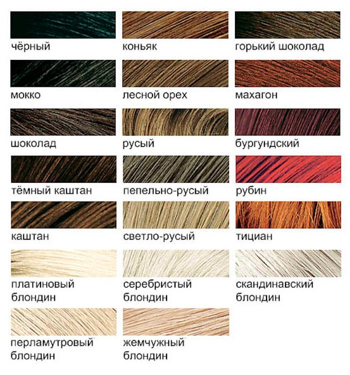 Палитра красок для волос непрофессиональной коллекции Estel Celebrity