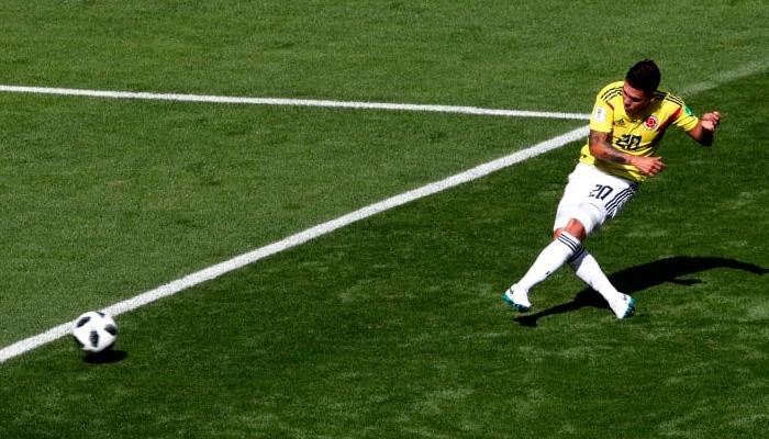 Первый гол Хуана КИНТЕРО в матче Колумбия – Япония.