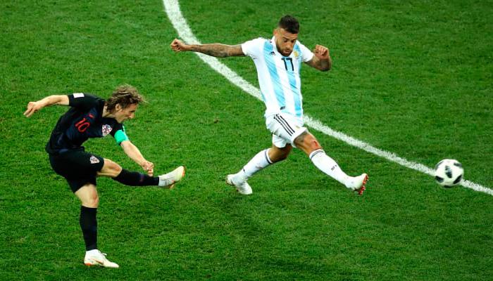 Второй гол Луки МОДРИЧА в матче Хорватия – Аргентина.