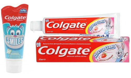 Детская зубная паста Colgate.