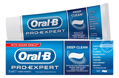 Паста для чистки зубов Oral-B.