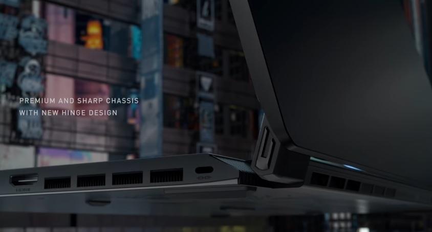 Вид сбоку ноутбука MSI GS76 Stealth