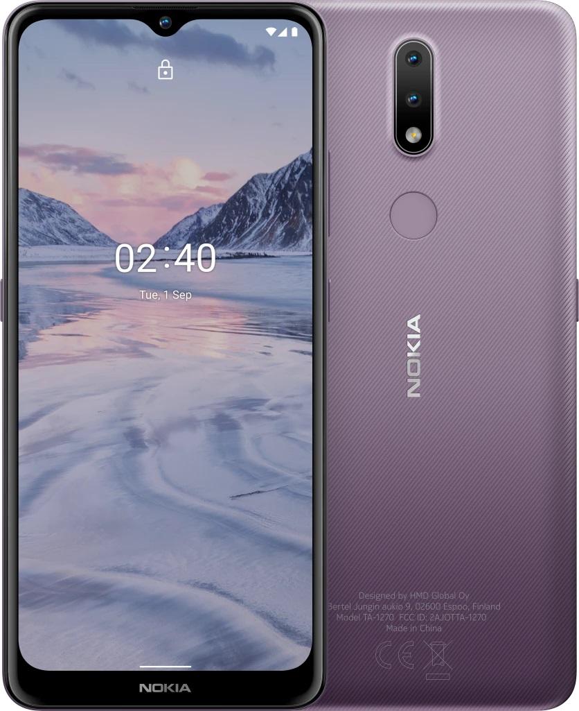 Дисплей смартфона Nokia 2.4: 6,5 дюйма (1600 x 720). Камеры (задние): 13/2 Мпикс. Размеры: 165,0 x 76,3 x 9,3 мм. Память: 32 GB / 1024 GB (microSDXC).