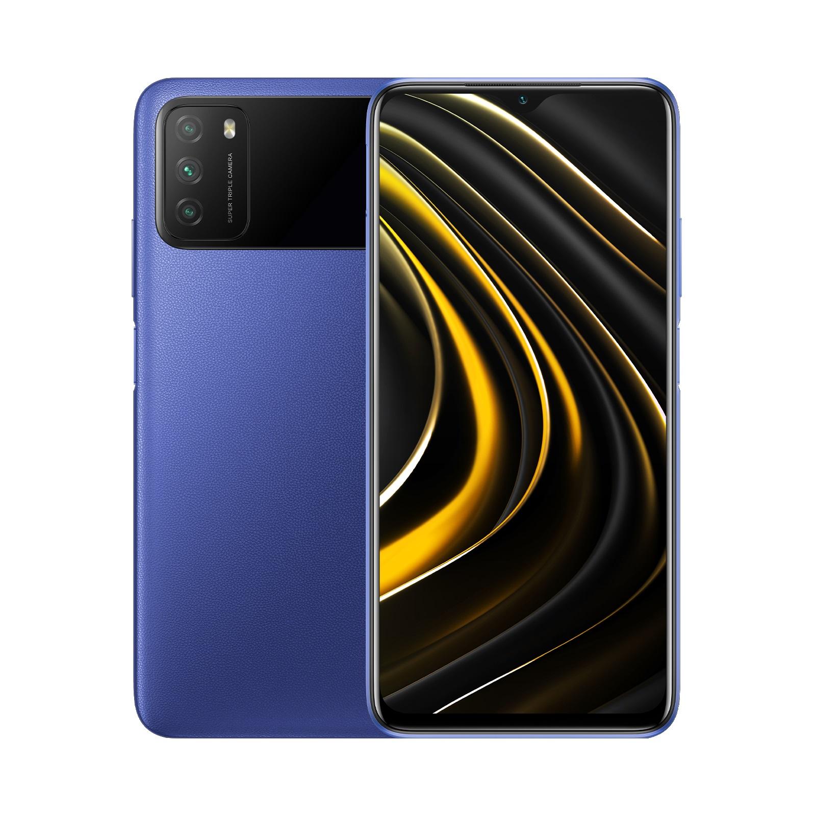 Дисплей смартфона Xiaomi Poco M3: 6.53 дюйма (2340 x 1080). Камеры (задние): 48 (12) / 2/2 Мпикс. Размеры: 160,4 x 77,2 x 10,7 мм. Память: 128 GB / 512 GB (microSDXC).