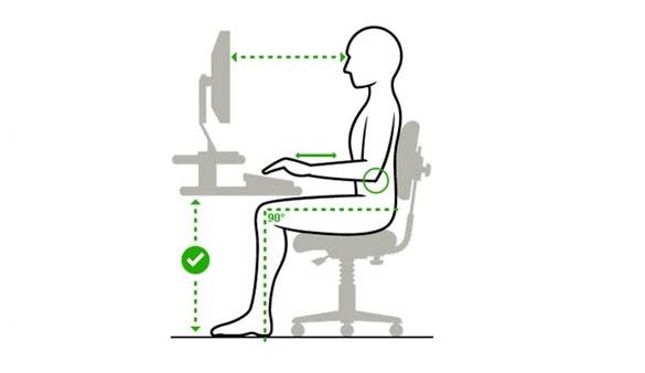Правильная осанка при работе в компьютерном кресле