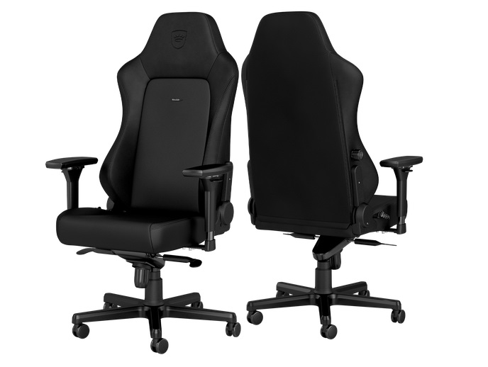 Лучшее геймерское кресло Noblechairs Hero Black Edition: Вес: 28 кг. Сиденье (Ш x Г): 39 x 48 см. Рекомендуемый размер: M - L. Наклон: 125 град.