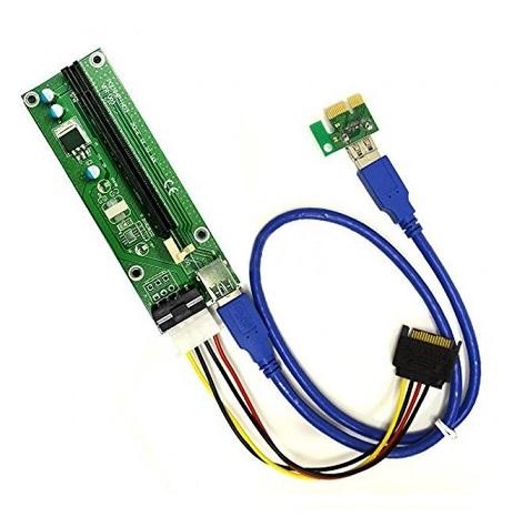 Riser USB 3.0 PCI-E PCI Express 1x - 16x