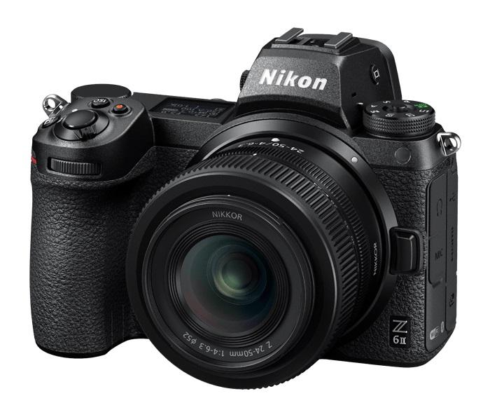 Фотокамера со сменной оптикой Nikon Z6 II: Разрешение матрицы: 24.5 Мпикс. Полнокадровая матрица: ДА. Тип матрицы: BSI CMOS. Разрешение: 6048 x 4024. ЖК-экран: 3.15 дюйма. Оптический стабилизатор объектива: НЕТ. Видео: 4K 120p.