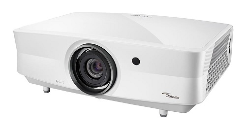 Лазерный проектор Optoma UHZ65LV: Разрешение: 4K UHD (3840x2160) , HDR и HLG совместимость. Формат: 16:9, 4:3. Яркость: 5000 ANSI люмен. Разъемы: 2xHDMI 2.0, VGA, RJ-45. Ресурс лампы: 30 000 часов. Размеры: 498 x 331 x 171 мм. Вес: 10,52 кг.