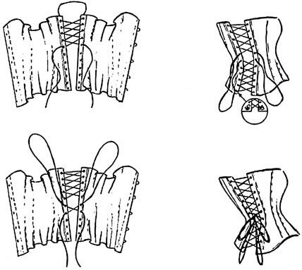 Как правильно шнуровать корсет.