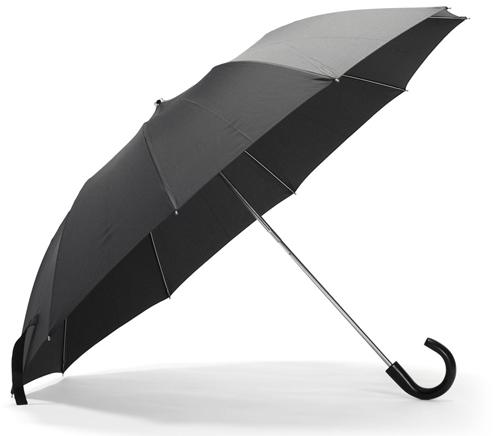 Классический зонт-трость черного цвета всегда в моде.