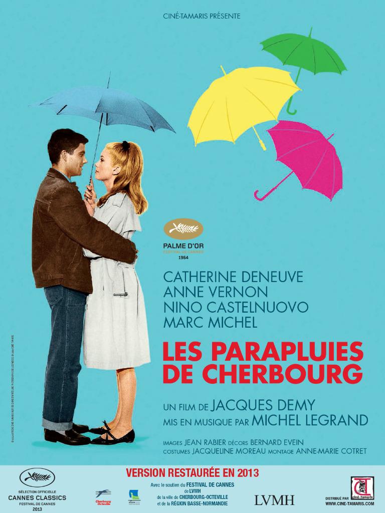 Постер картины «Шербургские зонтики», отреставрированной в 2013 году