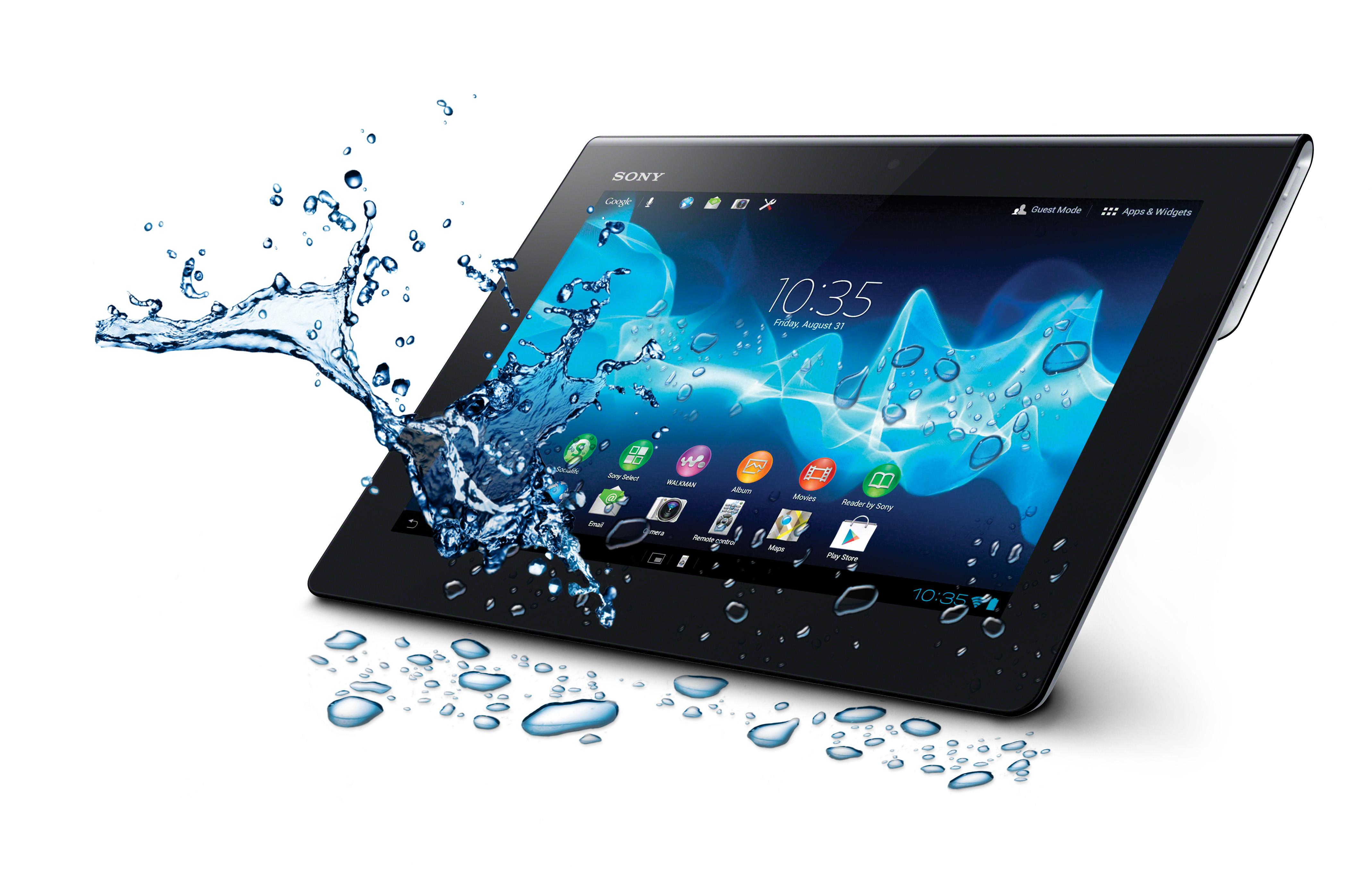 """Планшетный ПК Sony Xperia Tablet S 16GB имеет интересную фишку: защиту от брызг. Довольно любопытная особенность выделяющая его на фоне других. Операционная система Android 4.1 Jelly Bean. Процессор NVIDIA Tegra 3 1.3 ГГц, RAM - 1 ГБайт, 9.4"""" TFT-экран (1280x800). Стандарт связи 3G и WiFi 802.11 a/b/g/n. Оснащен встроенным универсальным пультом дистанционного управления."""