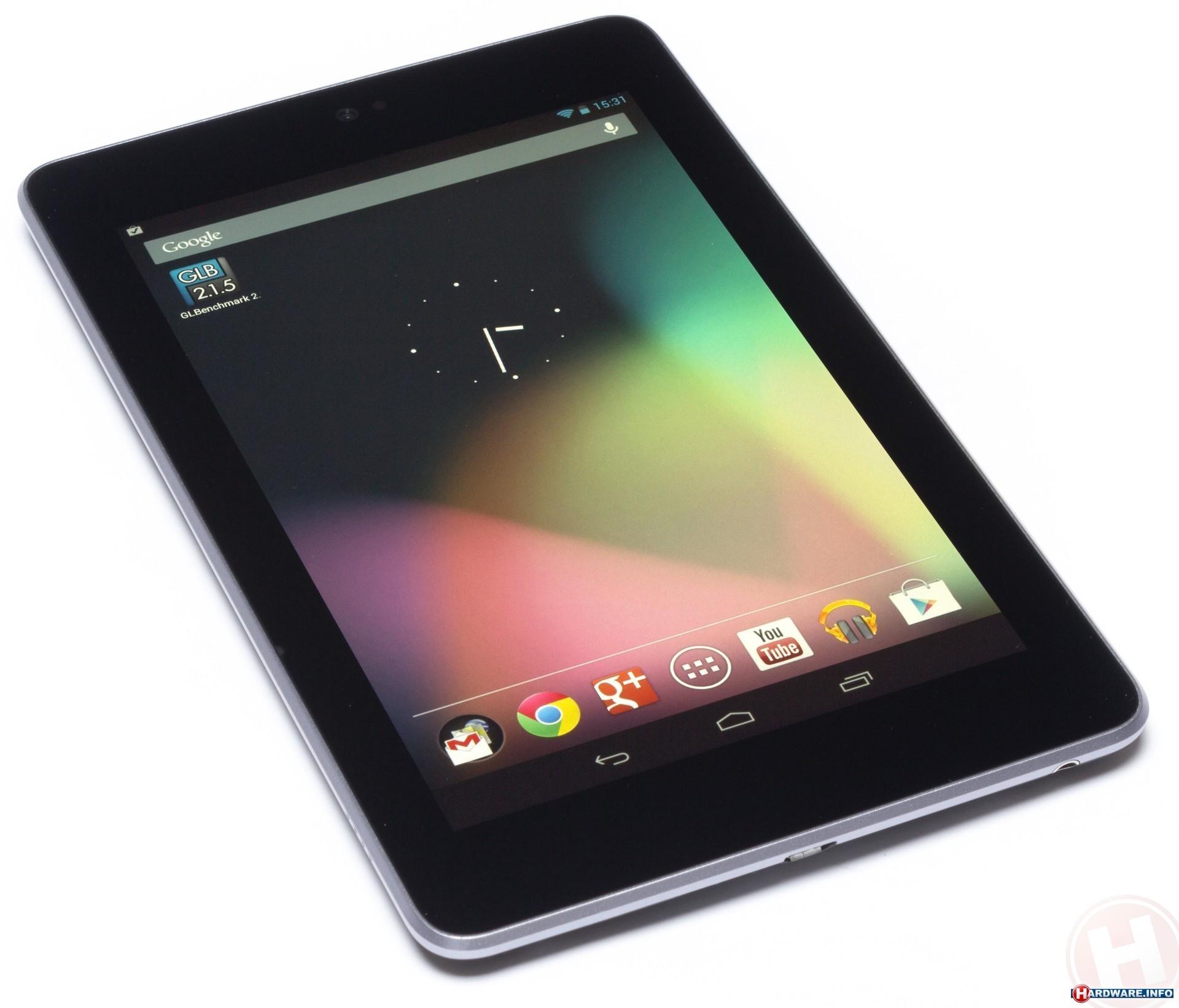 """Совместный продукт Google и Asus Nexus 7 3G 32GB. Преимущество компактность и великолепный экран 7"""" IPS LCD (1280x800). Стандарты связи 3G под управлением Android 4.1 Jelly Bean. Четырехъядерный процессор NVIDIA Tegra 3 1.2 ГГц, оперативная память - 1 ГБайт. Интерграция с сервисами Google. Время работы без перезарядки в режиме просмотра видео - 8 часов."""