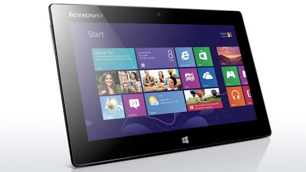 """Недорогой бизнес-планшет Lenovo Tablet Miix 10 64GB. Довольно приличный девайс на январь 2014 года под управлением ОС Windows 8. Отличная IPS-панель 10.1"""" (1366x768). Двухъядерный процессор Intel Atom Z2760 (1.8 ГГц), RAM - 2 ГБайта. Возможны варианты с поддержкой 3G или только с Wi-Fi."""