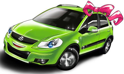 При хорошем заработке можно подарить автомобиль.