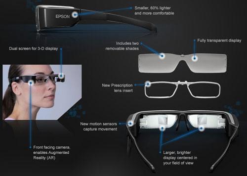 Умные очки Epson Moverio BT-200.