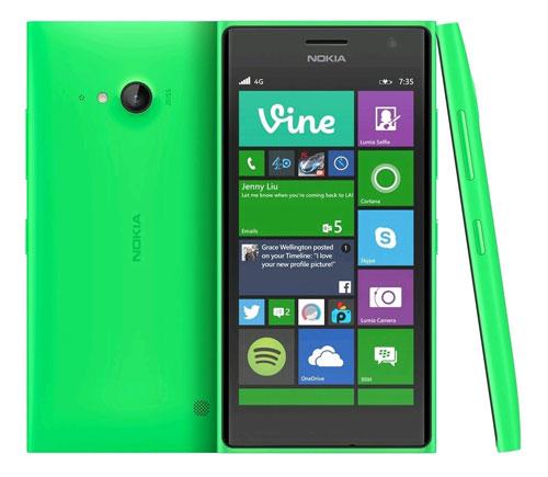 Смартфон Nokia Lumia 735 (январь 2015 год)