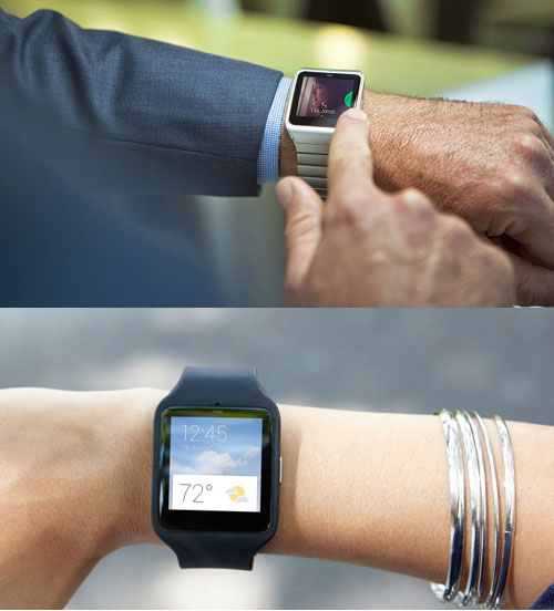Умные часы Sony Smartwatch 3 (март 2015 год)