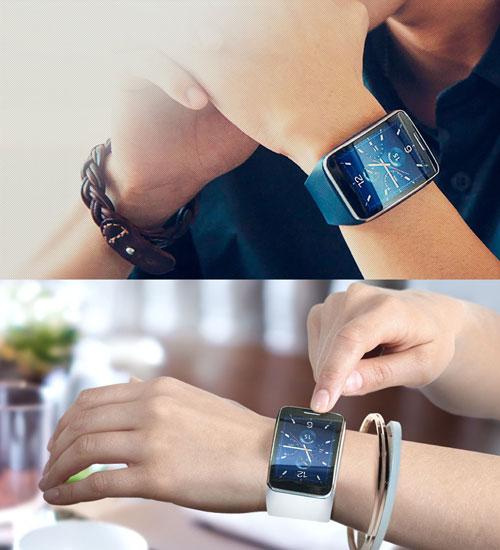 Умные часы Samsung Gear S (март 2015 год)