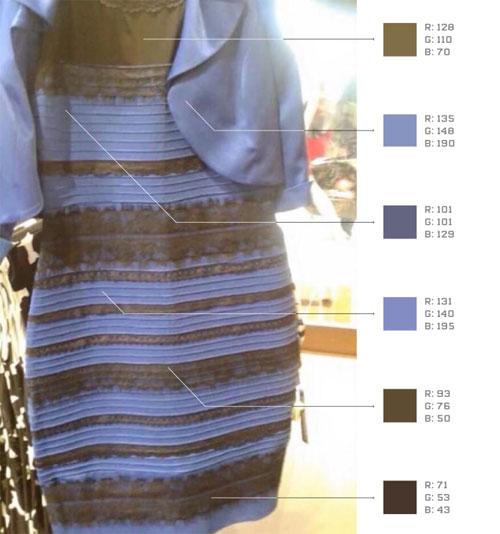 Платье синее или белое? Ответ даст Photoshop.