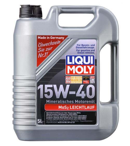LIQUI MOLY MoS2 Leichtlauf 15W-40 – лучшее минеральное моторное масло рейтинга 2016