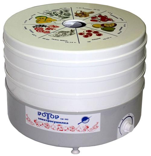Ротор СШ-002 – самая недорогая сушилка для овощей и фруктов 2016