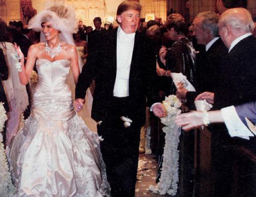 Очень дорогая свадьба Мелании и Дональда Трампа.