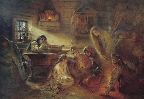 Святочные гадания проводятся в ночь с 6 на 7 января.