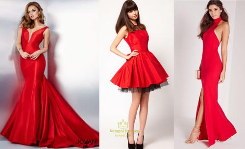 Встречать Новый 2017 год Огненного Петуха надо в красном платье.