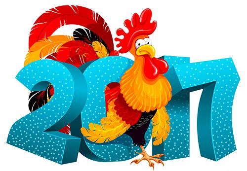Лучшие прикольные короткие поздравления с Новым годом 2017 – годом Огненного Петуха.