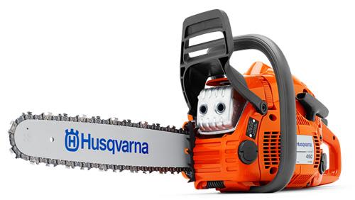 Husqvarna 450e – лучшая полупрофессиональная бензопила рейтинга 2017 года.