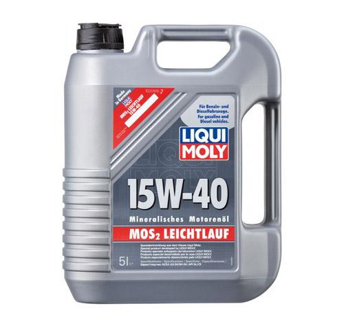 LIQUI MOLY MoS2 Leichtlauf 15W-40 – лучшее минеральное моторное масло 2018 года.
