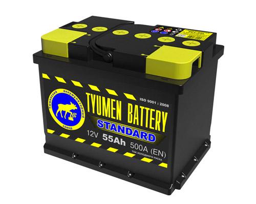 Свинцово-кислотный аккумулятор TYUMEN BATTERY STANDARD.