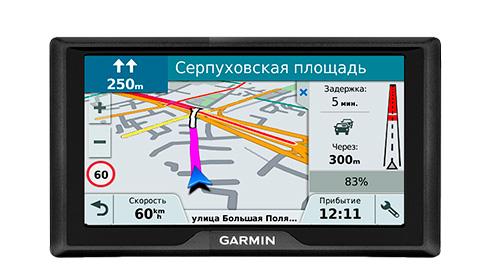 Garmin Drive 61 RUS LMT – лучший GPS-навигатор для автомобиля 2019 года.