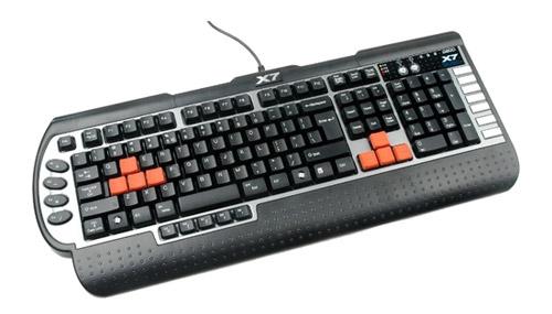 A4Tech X7-G800 Black-Silver PS/2 – лучшая игровая мембранная клавиатура 2018 года.