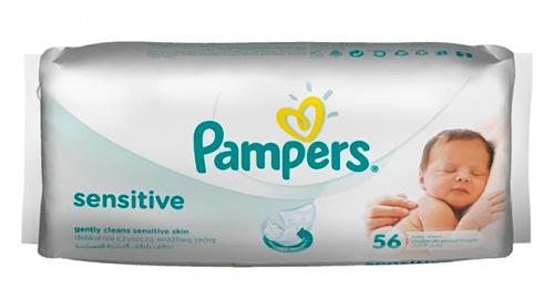 Детские влажные салфетки Pampers.