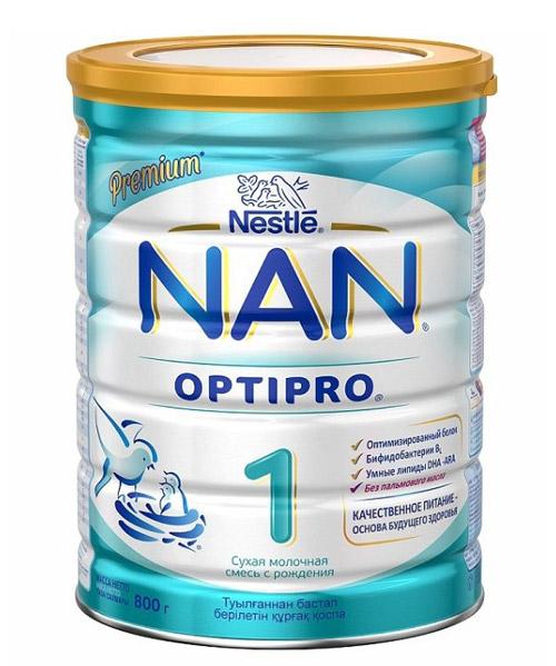 Молочная сухая смесь для грудничков NAN (Nestle).