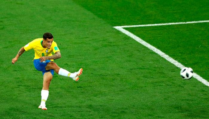Первый гол Филиппе КОУТИНЬО в матче Бразилия – Швейцария.