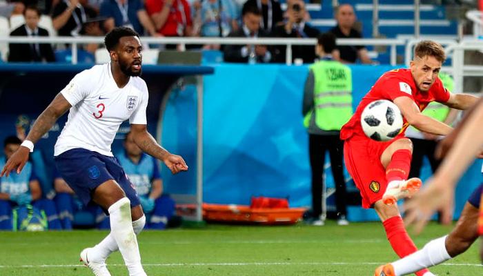 Первый гол Аднан ЯНУЗАЙ в матче Бельгия – Англия.