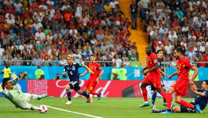Третий гол Насера ШАДЛИ в матче Бельгия – Япония.
