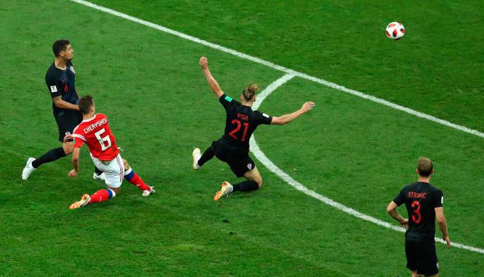 Первый гол Дениса ЧЕРЫШЕВА в матче Россия – Хорватия.